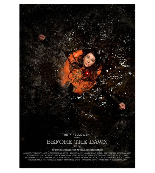 Kate Bush (Before The Dawn) Poster