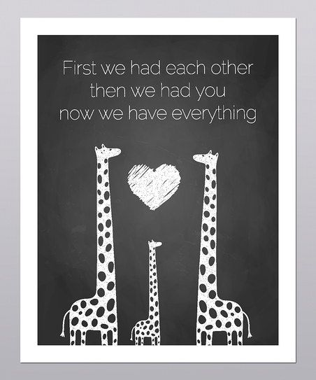 'Then We Had You' Giraffe Print