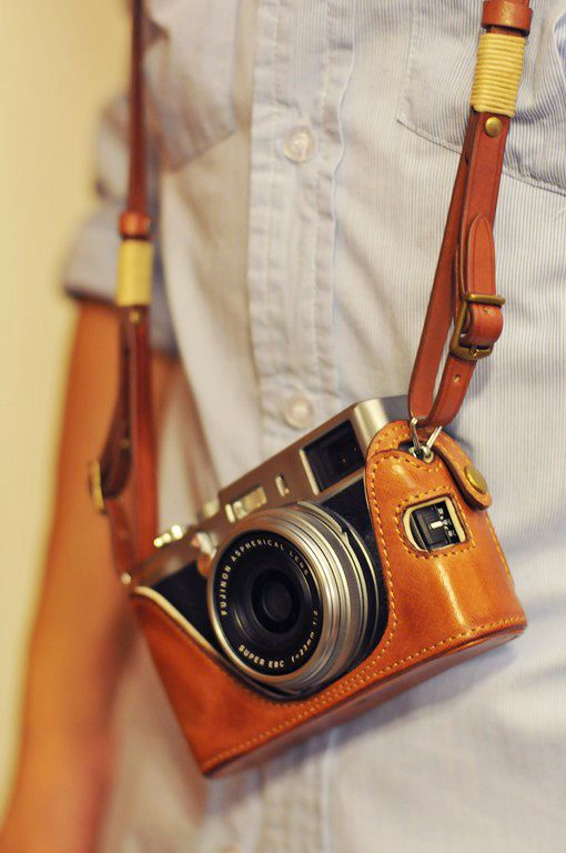 X100/ X100S COMBO set: Fujifilm X100/X100S Vintage Full Case [Italy COW Leather] + Strap - Kaza