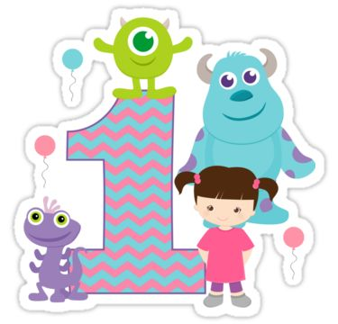 Baby Monsters Inc 1st First Birthday by sweetsisters. SO adorable!
