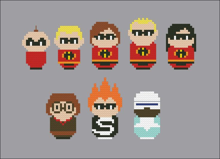 The Incredibles - Mini People - Pattern by CloudsFactory