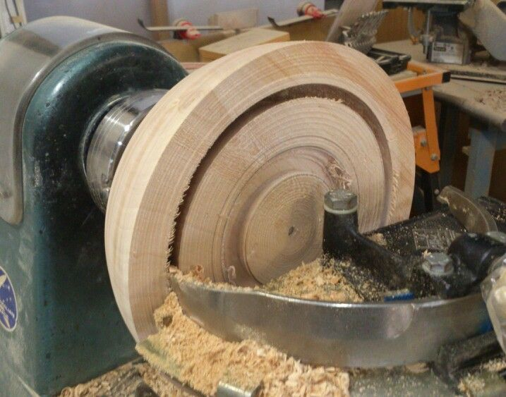 Woodcut bowl saver in action