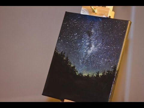 Night Sky - Speed Painting - Must watch this video again so pinning it here!! Amazing!:
