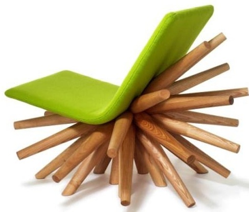 The Burst Chair Is The Creation Of Young Brittish Designer. Oliver Tilbury  Has Won Some Awards For The Burst Chair. He Combined Ash And Frabric  Upholstery ...