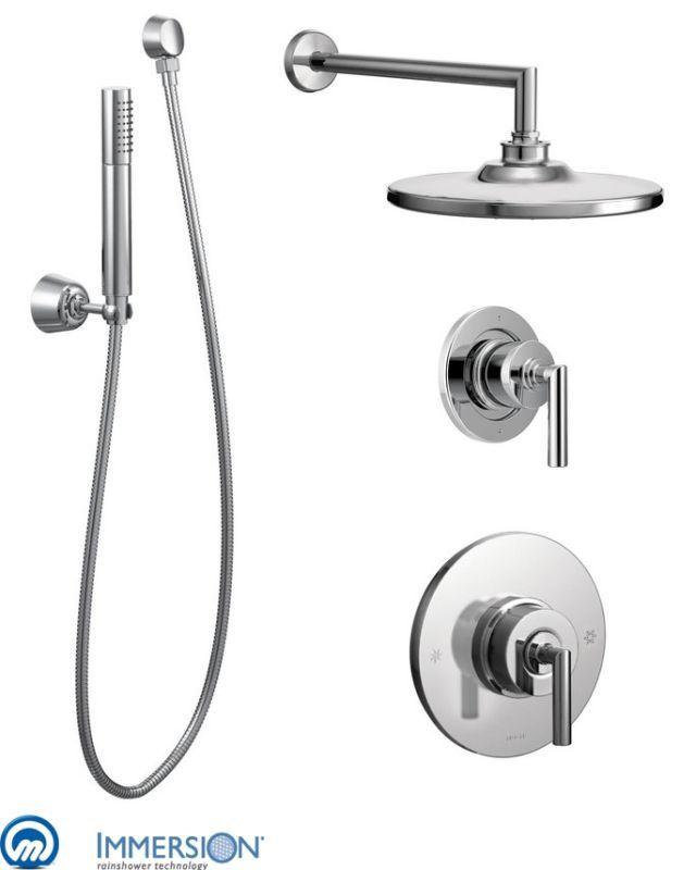 Moen 925 Pressure Balanced Shower System with Rain Shower Diverter and Hand Sh Chrome Faucet Shower System Custom Shower