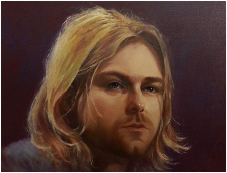 Kurt Cobain Oil on canvas Www.artannenarie.com