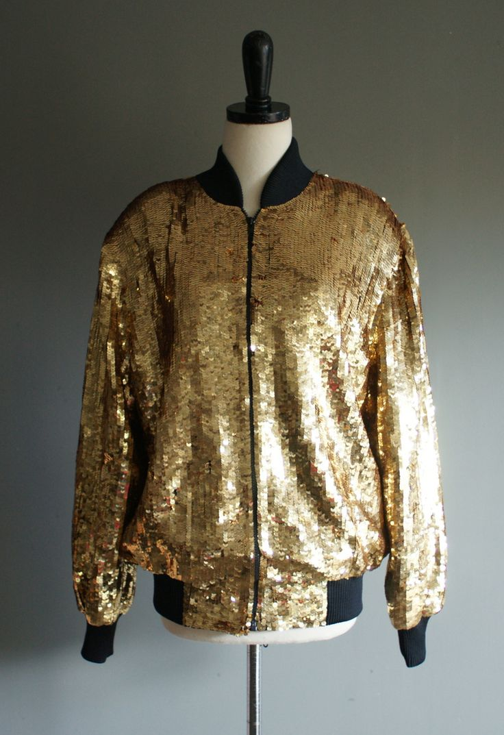 Gold Bomber Jacket Coat Nj