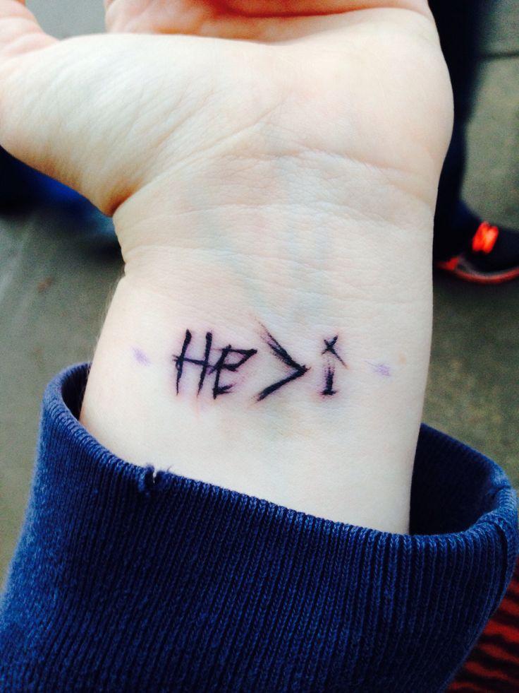 He>i scratch tattoo by jimmy @ atomic lotus tattoo in OKC