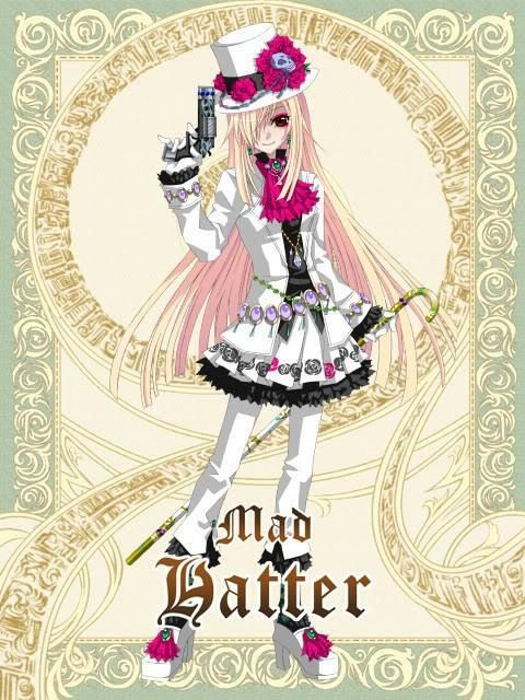 Alice in wonderland anime mad hatter female