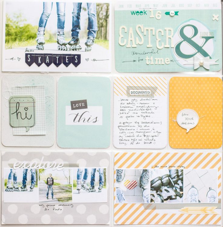 """At least someone's up to date with their Project Life! """"Week 16"""" by all-that-scrapbooking at @Studio_Calico"""