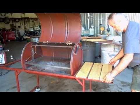 Como construir Parrilla chulengo asador Argentina de tambor - YouTube