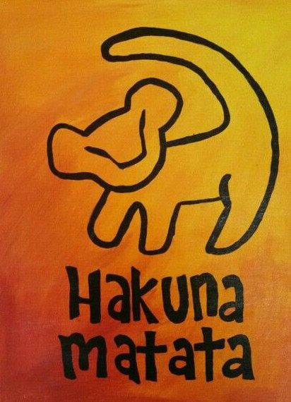 Hakuna Matata Canvas by AnythingGoesDesign on Etsy