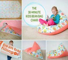 Un joli pouf poire pour enfants en 30 min ! D'autres jouets pour bebe => http://amzn.to/2nK8lcv