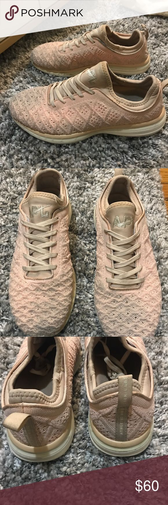 Blush APL Sneakers Super cute blush sneakers! They are used, but still in great condition! APL Shoes Sneakers