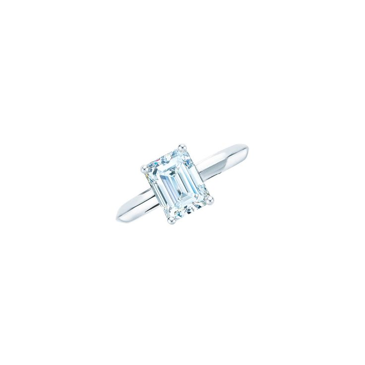 Tiffany & Co. emerald-cut diamond ring in platinum, price upon requestFor information: tiffany.com - Photo: Courtesy of Tiffany & Co.