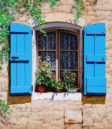 Blue Shutters by Michael Swanson
