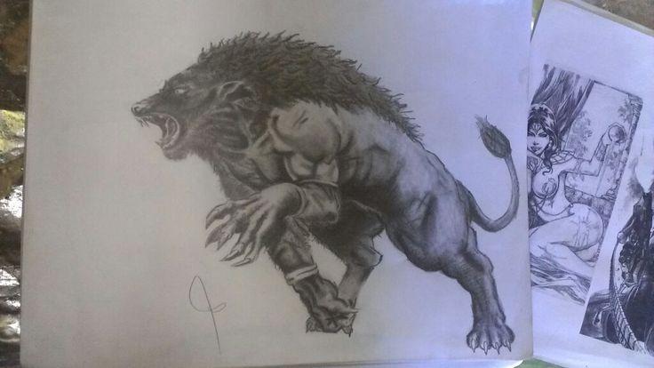 Hombre Lobo. | Dibujos a Lapiz. | Pinterest