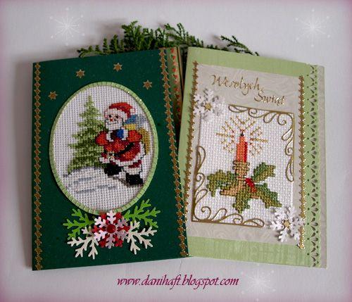 Haftem malowane: Kartki na Boże Narodzenie