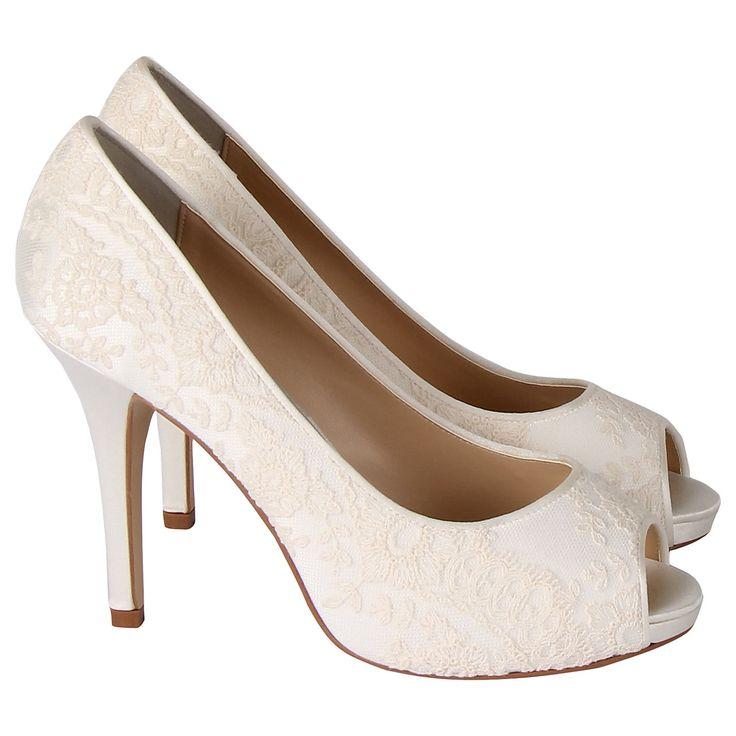 Buy Rainbow Club Elerine Peep Toe Court Heels, Ivory | John Lewis#tabinfo-