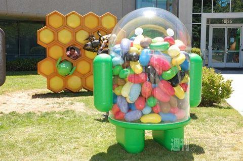 Google PlexにJelly Beanのドロイド君が登場 とにかくドロイドがいっぱい