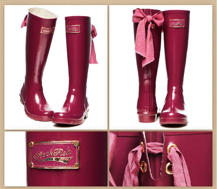 Rain boots Rockfish bow Women rain rubber shoes rainboots Free shipping-inBoots from Shoes on Aliexpress.com