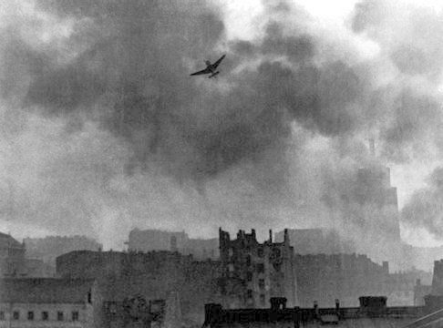 Warsaw Uprising stuka ju-87 bombing Old Town. This Day in History: Aug 1, 1944: Warsaw Revolt begins