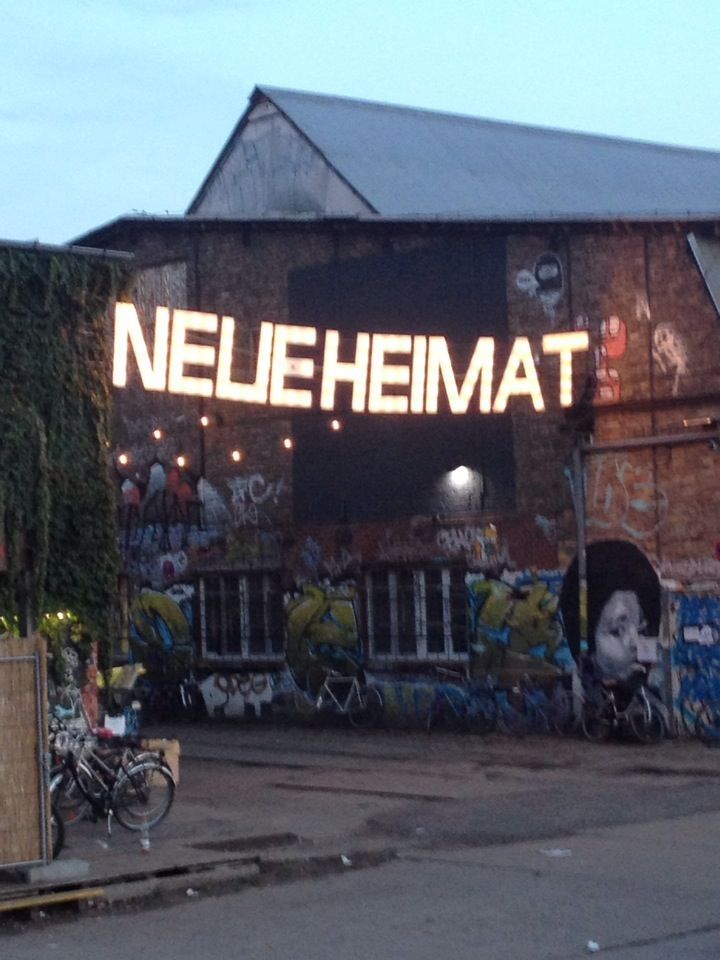 Neue Heimat, Berlin. An old rail­way sta­tion turned into an urban space for con­certs, street food, art and hap­pen­ings. www.neueheimat.com