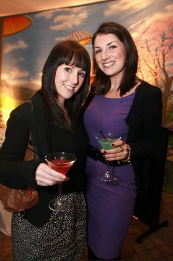 Mad Hatters Tea #Party at Top of the Town, Hyatt, L to R , Stefanie Haydock and Laura Jean Redmond