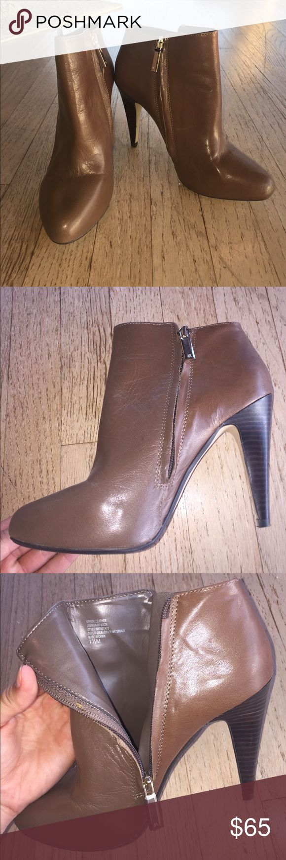Banana Republic Leather booties Size 7.5  Pretty Walnut brown leather booties from BR Banana Republic Shoes Ankle Boots & Booties