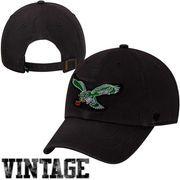 '47 Brand Philadelphia Eagles 1948 Cleanup Adjustable Hat - Black