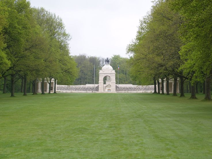 The South Africa (Delville Wood) National Memorial to all South Africans of all theatres of war. Incl in the database & mentioned in records of  CWGC by virtue of being the only dedicated Memorial to South Africa's commitment on the Western Front. The names of their Missing are not inscribed on its walls. They appear on Commonwealth memorials alongside the Missing of the UK forces. A flint & stone screen, surmounted by figures of a horse & 2 men (representing the 2 races of the Union) in…