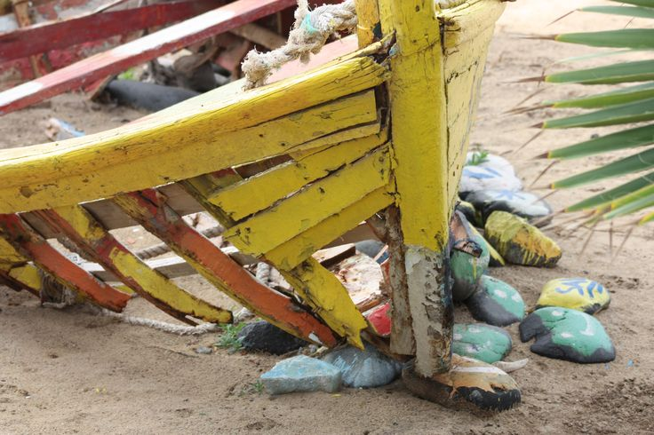 Old boat in the Cape Verde Island Sal