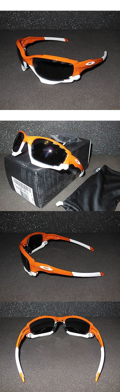 Sunglasses and Goggles 56185: New Oakley Racing Jacket Sunglasses Team Burnt Orange/Grey Cycling Sport Lanyard -> BUY IT NOW ONLY: $199.95 on eBay!