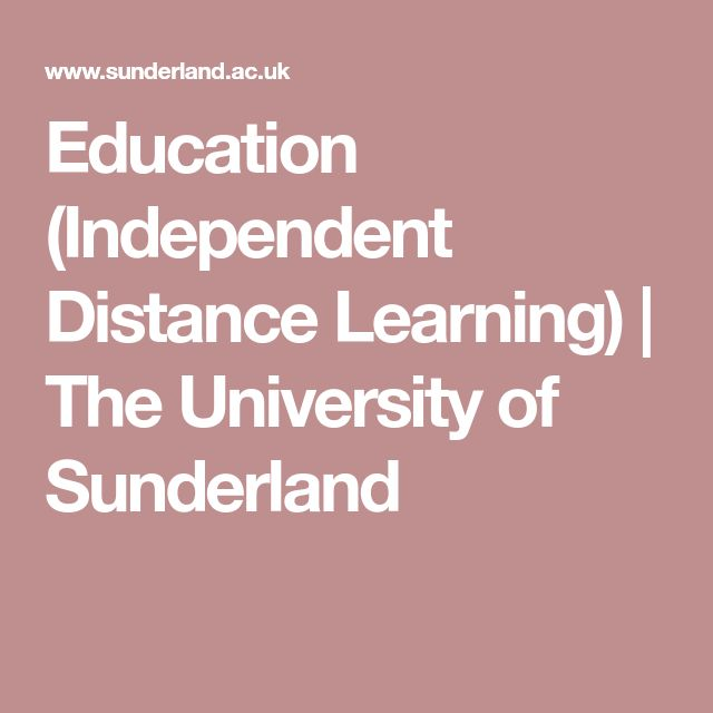 Education (Independent Distance Learning) | The University of Sunderland