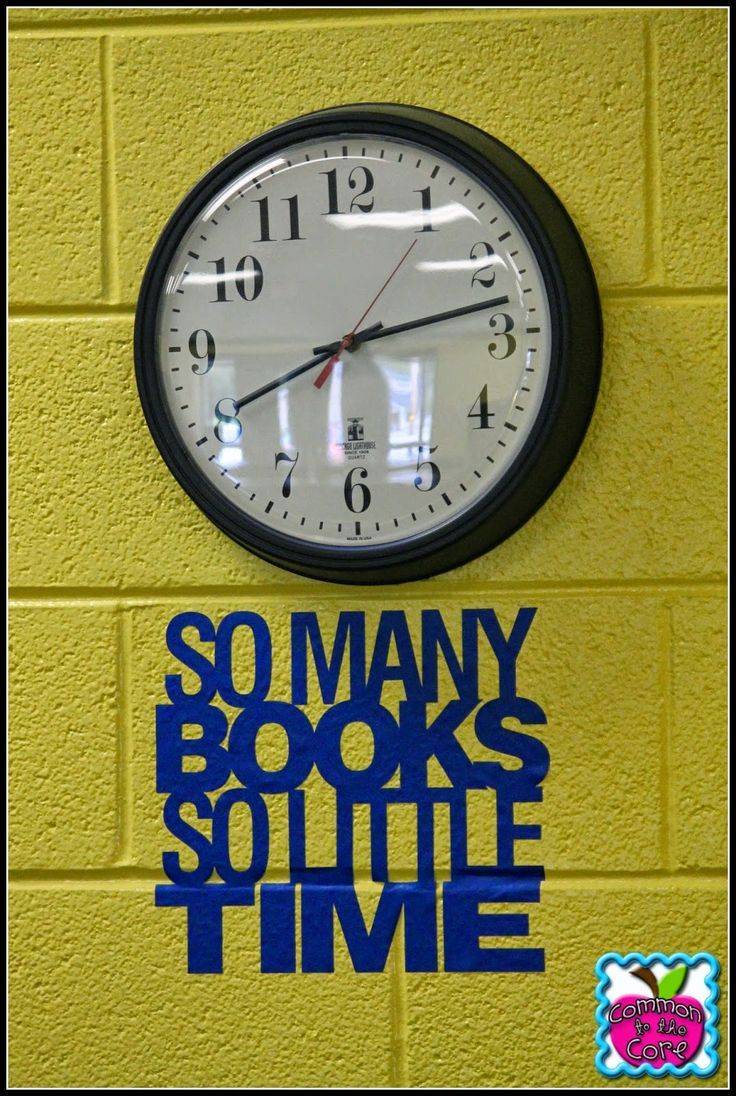 55 best classroom set up ideas for elementary images on pinterest great idea for the librarys clock common to the core create vinyl quotes and graphics for your classroom library or gymcafeteria amipublicfo Choice Image