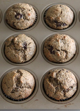 Chocolate Chia Banana Nut Muffins #cleaneating