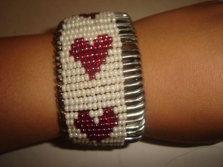 safety pin 1heart bracelet