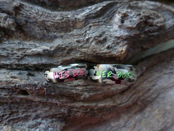 Hey, I found this really awesome Etsy listing at https://www.etsy.com/listing/260125914/camo-ring-set-his-her-camouflage