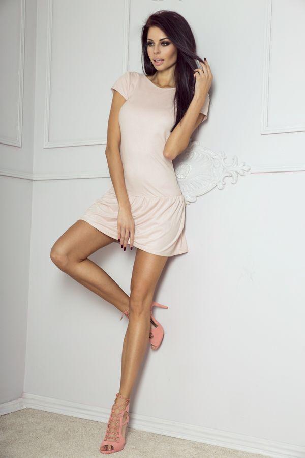 IVON Zamszowa sukienka model 197 ivon-sklep.pl