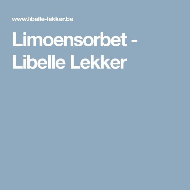 Limoensorbet -                         Libelle Lekker