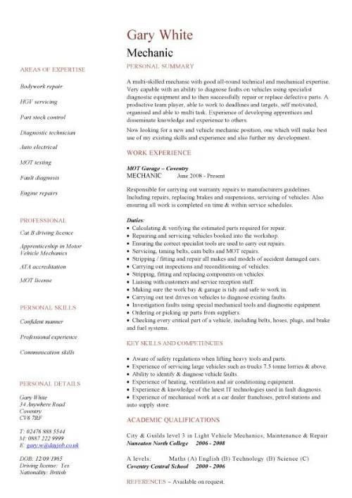 8 best Good CV examples images on Pinterest Sample resume, Graph - Wind Turbine Repair Sample Resume