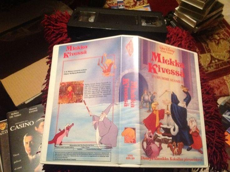 Miekka kivessä - ensimmäinen vuokravideojulkaisu, 1980-luku.