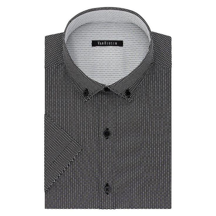 Men's Van Heusen Fresh Defense Slim-Fit Dress Shirt, Size: S 14.5 -15, Ovrfl Oth
