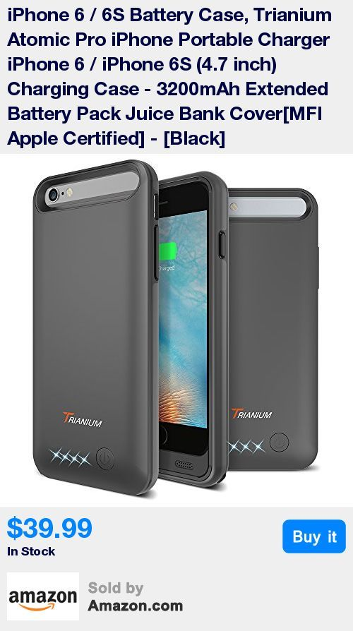 The powerful 3200mAh Li-polymer rechargeableAtomic Pro battery can effectively provide 100%+ extra battery life to your iPhone 6/6S, which is equivalent to add 14 + hours talk time or 10+ hours web browsing time. * 360° comprehensive bumper design and hard-shell backplate, the Trianium Portable Charger protects your iPhone from scratches and other daily wear and tear, yet small and convenient enough to fit easily in your hand or in your pocket. * Featuring sync-through technology that you ca