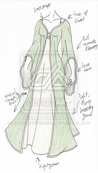 sketches of clothing