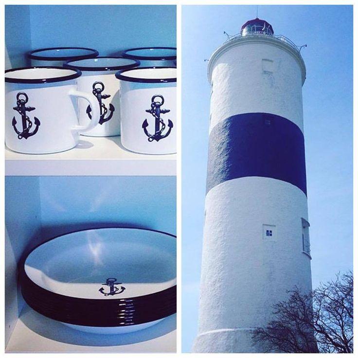 Black and white on spring blues at the southern tip of Öland Spotted by @kueenscarves at #naturbokhandeln #lionsandcranes #lionsocranes #öland #långejan #fyr #lighthouse #beacon #ottenby #enamel #emalj #swden #swedishdesign #design #nordicdesign...