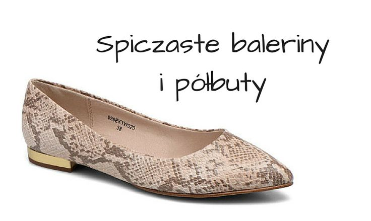Hot trend: Spiczaste baleriny i półbuty