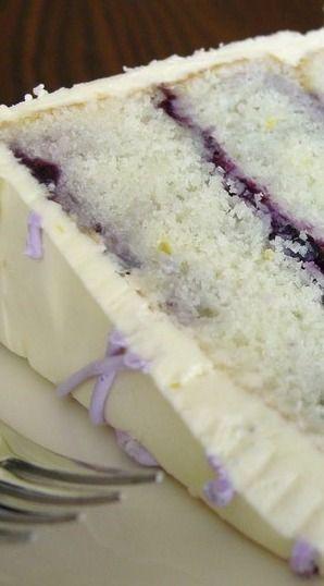 ❤️Lemon Blueberry Marble Cake with Lemon Buttercream❤️