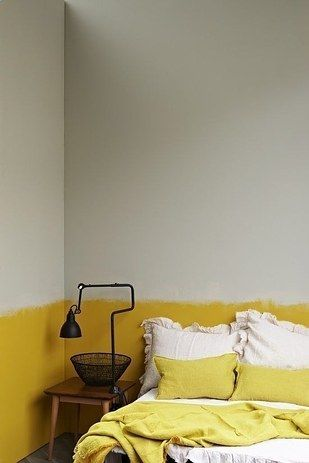 Consider making your room two-toned or three-toned.   23 Subtle Yet Bold Ways To Add Color To Your Home