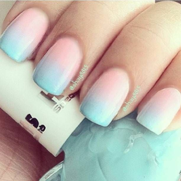 Cotton Candy Ombre Nails Nail Designs Picture
